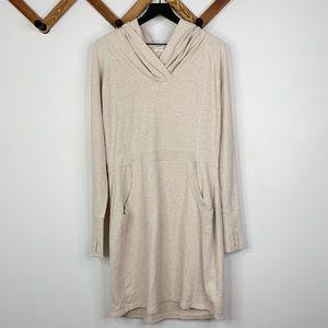 ATHLETA beige cooldown sweatshirt dress✨szL